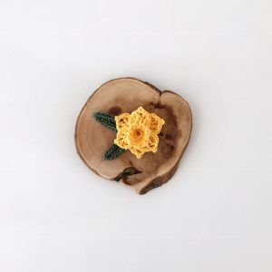 Yellow Daffodil brooch