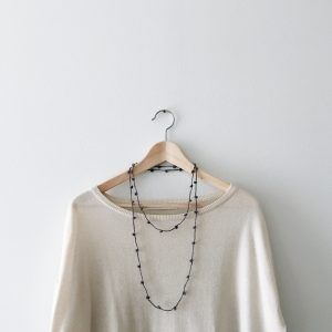 Dark gray multi strand necklace