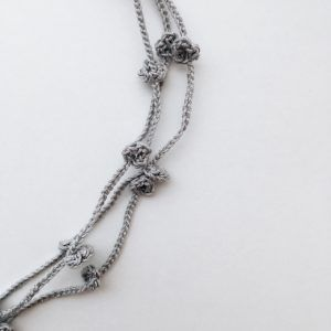 Light gray multi strand necklace