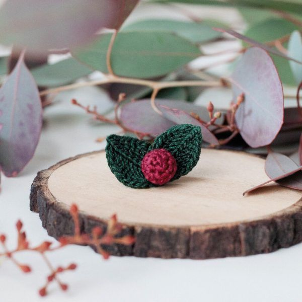 Burgundy Berry brooch