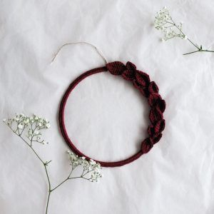 Minimal Burgundy Wreath