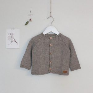 knit baby boy cardigan beige
