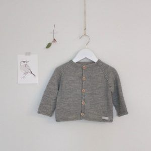 knit baby boy cardigan gray