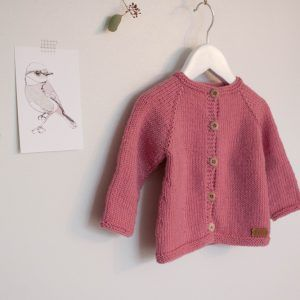 knit baby girl cardigan pink