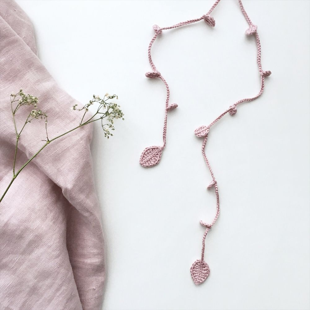 Blush long necklace