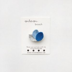 Lotus Brooch Sky
