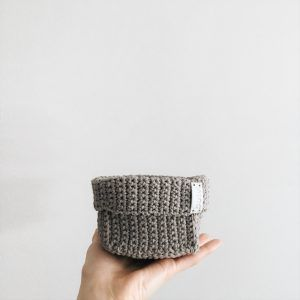 crochet storage baskets gray