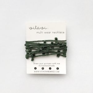 Green two strand necklace