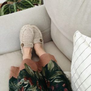 Knit House Slippers for Women