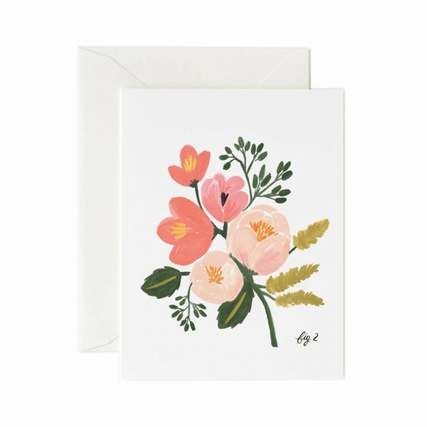 Rifle Paper Co. Card Peony Pink