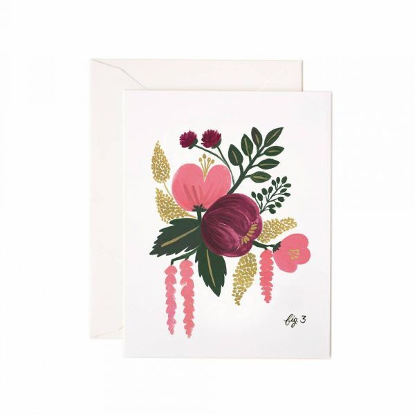 Rifle Paper Co. Card Raspberry Floral