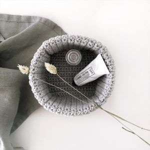 Crochet Storage Baskets Gray - S, M, L