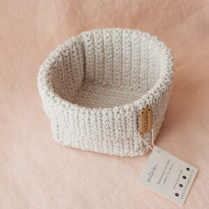 Big Handmade Crochet Basket – Cream
