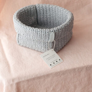 Large Handmade Crochet Basket – Grey