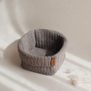 Big Handmade Crochet Basket – Brown
