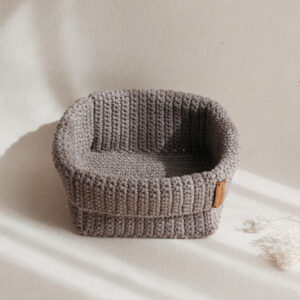 Large Handmade Crochet Basket – Brown